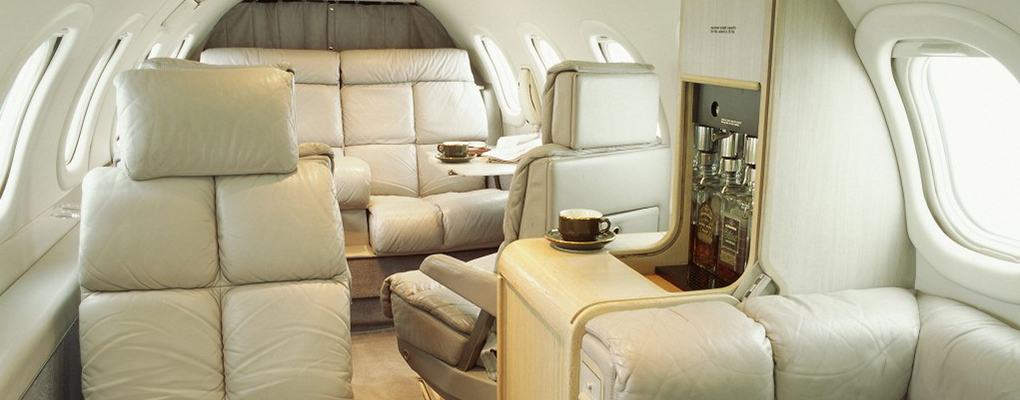 LearJet-35A-cabin PRIVATE JET