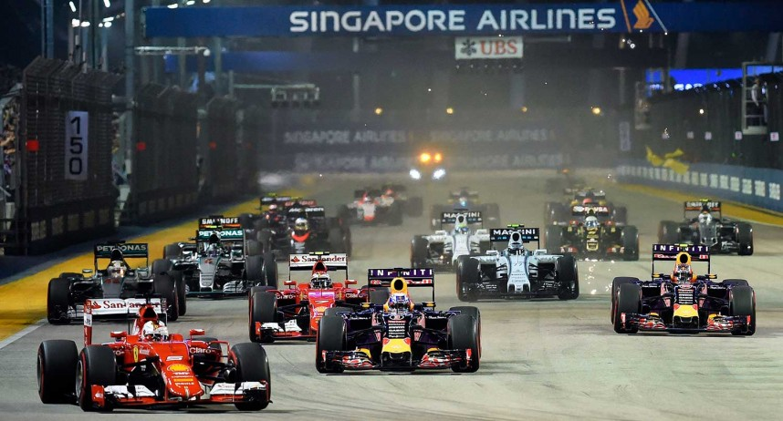 private jet hire singapore F1 grand prix, 2016, Marina Bay street circuit.