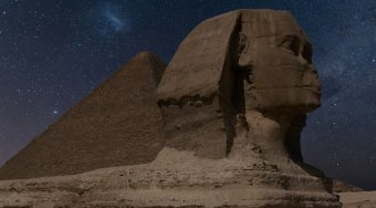 Cairo's Sphinx at night