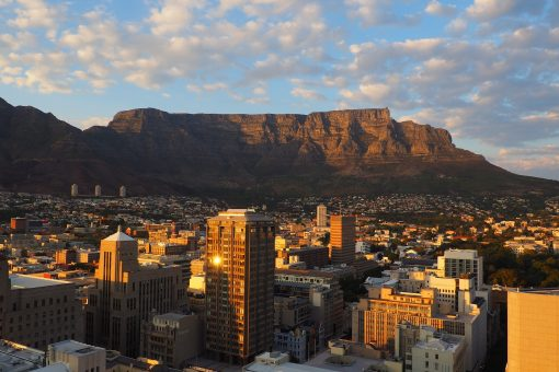 Cityscape of Cape Town with Table Mountain in the background