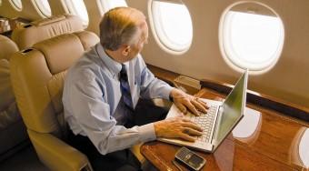 private jet wi-fi use
